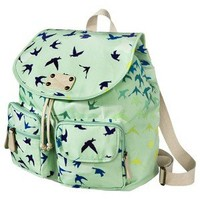 Mossimo Supply Co. Printed Birds Backpack - Green