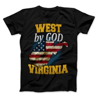 West By God Virginia West Virginia State T-Shirt & Apparel