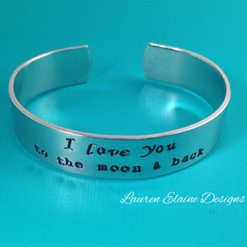 Custom Hand Stamped Aluminum 1/2 inch Wide Bracelet- Great for Men -Add Your Own Phrase