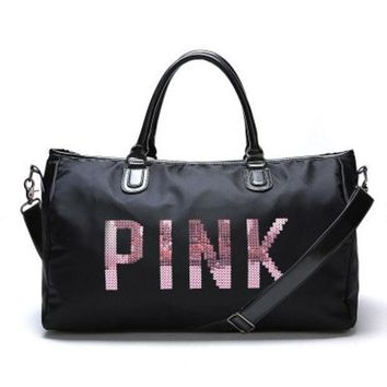 DCCKN6V PINK Victoria's Secret Fashion Print Travel Luggage Bag Shoulder Bag