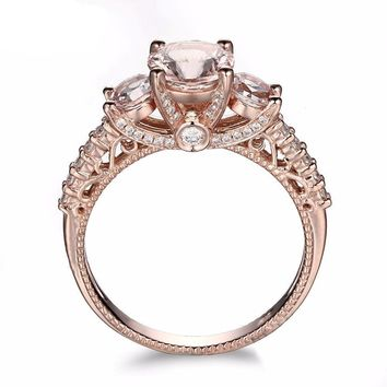 10k Rose Gold Morganite Engagement Ring