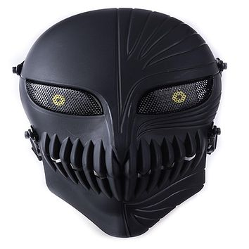 TACTICAL AIRSOFT PAINTBALL CS WAR GAME FULL FACE PROTECTIVE SKULL MASK MULTI COLORS