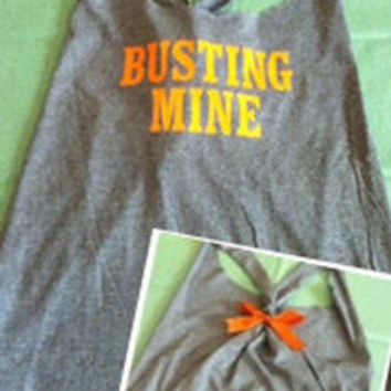 Busting Mine to Kick Yours Workout Racerback Tank