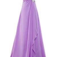 PrettyDresses Women's Long Purple Prom Party Dresses Bridesmaid Dresses