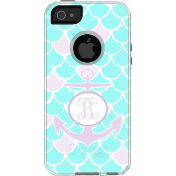 Monogrammed Mermaids and Anchors  - Otterbox Commuter iPhone Case