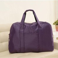 Large Capacity Solid Color Duffel Bag - Various Colors
