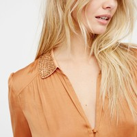 Free People Todays Romance Embellished Top