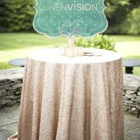Tablecloth - GLITZ Sparkly Sequins - Choose Any Size and Color - Event Home Decor Glam Sparkle Gatsby Party Cake Table Linen Overlay