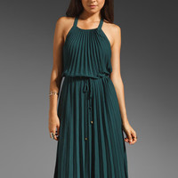 Rebecca Taylor Pleated Silk Gown in Jade from REVOLVEclothing.com
