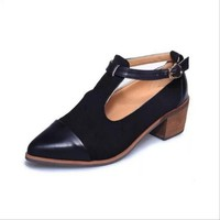High-heel pointed toe leather sandals