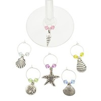 Sea Life Wine Charms-Set of 6