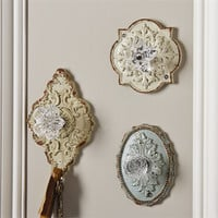 ASSORTED CRYSTAL DOOR KNOB WALL HOOK