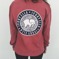 Pocketed Dusty Rose Medallion Print