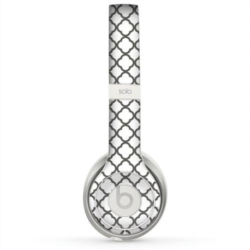 The Dark Gray & White Seamless Morocan Pattern Skin for the Beats by Dre Solo 2 Headphones