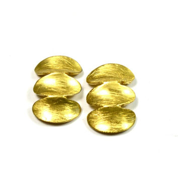 Three Disc Stud Earrings - Gold or Silver