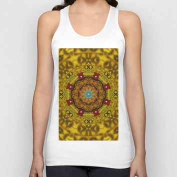 Mandala star on fur pop art Unisex Tank Top by Pepita Selles