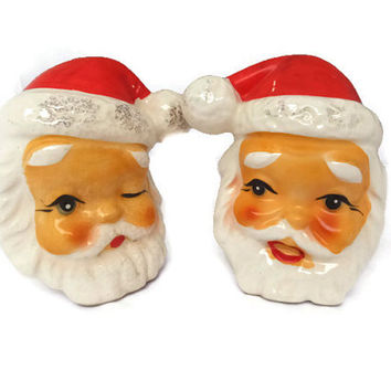 vintage Santa Claus Salt and Pepper Shakers