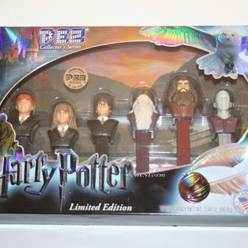 Licensed cool Harry Potter Character 6 PEZ Dispenser Set LE 022203 Collector's Series & Candy