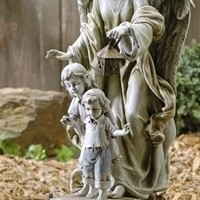 "Garden Collection, Solar Guardian Angel Statue, 20.5"" H"