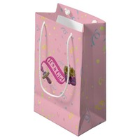 It's a Girl Pacifier Shoes Small Gift Bag