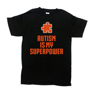 Autism Awareness Shirt Autism Is My Superpower Autism T Shirt Gifts For Kids Shirt Puzzle Piece Superhero Shirt Kids Clothes Youth Tee-SA592
