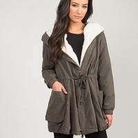 Hooded Military Jacket - M/L
