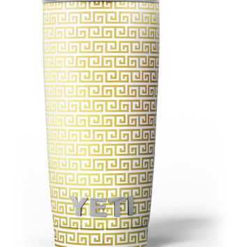 Golden Greek Pattern Yeti Rambler Skin Kit