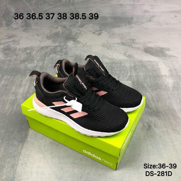 Adidas Original LITE RACER NEO Fashion Breathe Women Sports Running Shoes Black/Pink 2 Color