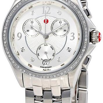 Michele Belmore Chronograph Stainless Steel Watch MWW29B000001