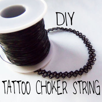 1mm 25 - 300 feet black stretchy elastic tattoo choker string cord for beading jewelry or making tattoo chokers bracelets rings and more
