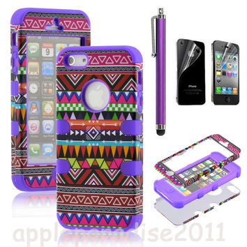 Totem Protective Case For Iphone 4/4s/5 With Pen And Sticker
