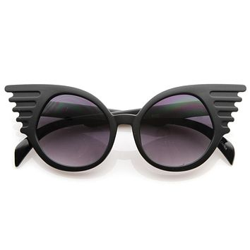 Trendy Unique Fashion Angel Wings Round Sunglasses 8581