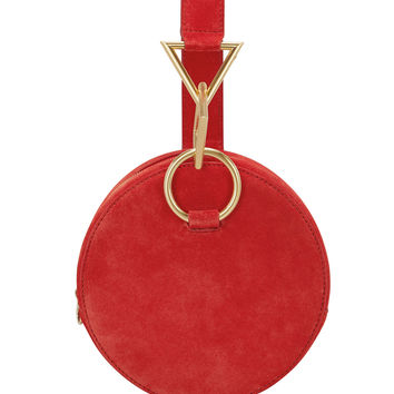 Azar Red Suede Clutch