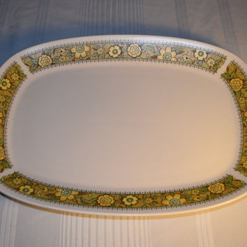 "Noritake Progression Festival 15"" Serving Platter Vintage Oval Serving Tray Hard to Find Rare 1970s Noritake Replacement Discontinued China"