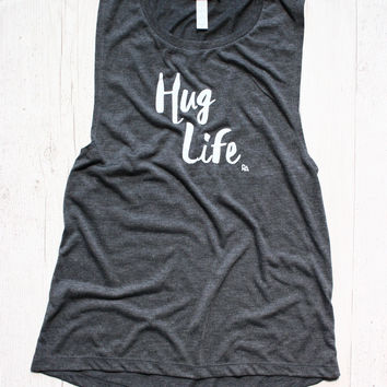 HUG LIFE DYLAN MUSCLE GRAPHIC TANK
