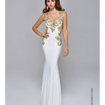 34e9d2e84d5 WHITE AND GOLD PROM DRESSES - Kalsene Fede