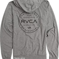 RVCA DIRECTIVE ZIP UP FLEECE