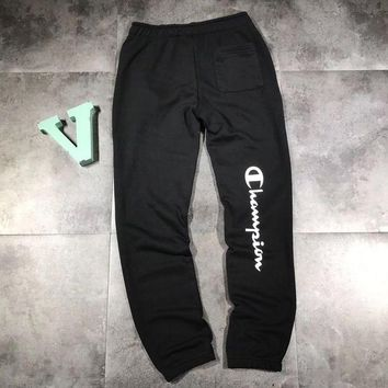 DCCKI2G Champion Woman Men Fashion Embroidery Pants Trousers Sweatpants