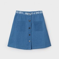 Denim Link Skirt