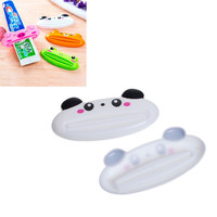1 Piece Plastic Cartoon Toothpaste Dispenser Cleanser Squeezer Extruder Bathroom Accessories Panda White 9x4.1cm