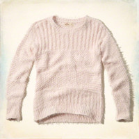 Fuzzy Mixed Stitch Pullover