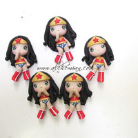 Chibi Wonder Woman ooak necklace made in italy