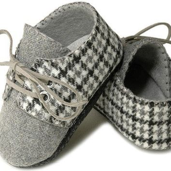 The Lucas in houndstooth wool baby by pink2blue on Etsy