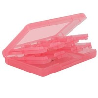 Skque 28 in 1 Game Card Case Box for Nintendo DS Lite,Dsi,3DS-color in Pink