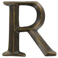 "4"" Bronze Polystone Letter - R 