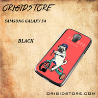 Haters Gonna Hate Pug BicycleSnap on Black White and 3D Samsung Galaxy S4 Case