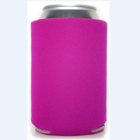 blank can coolers, fuschia colored can insulator, fuschia can bundle, plain dark pink beer hugger, blank soda hugger, bottle hold, raspberry