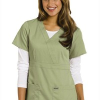 Greys Anatomy 3-pocket mock-wrap scrub top. - Scrubs and Beyond