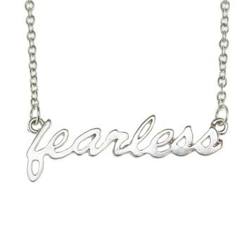 Fearless Script Tribe Necklace