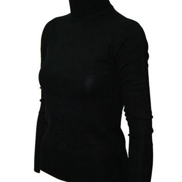 Fitted Long Sleeve Turtleneck Sweater